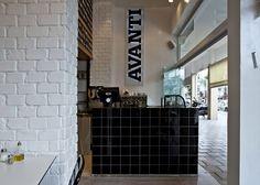 Avanti fast food pasta restaurant by Studio OPA, Tel Aviv store design