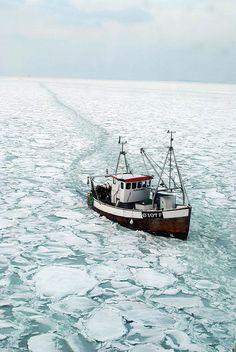 stuck in winter ice
