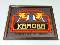 YB2 KAMORA BAR SIGN MIRROR ADVERTISING SIGNS 1 IMPORT MEXICO COFFEE LIQUOR