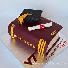 Risultati immagini per phd graduation cakes College Graduation Cakes, Graduation Celebration, Graduation Cookies, School Cake, Book Cakes, Cake Business, Virginia Tech, Cake Decorating Techniques, Cakes For Boys