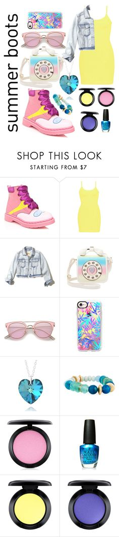 """""""summer hike"""" by mamatee1917 ❤ liked on Polyvore featuring Dr. Martens, BKE, Hollister Co., Betsey Johnson, Casetify, Akola, MAC Cosmetics and OPI"""