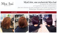Une nouvelle réussite Mya Isaï au salon Lecourbe Paris 15° par Alexandra. Technique MyaColor