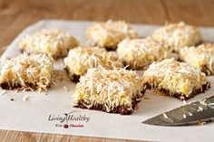 PINEAPPLE COCONUT BARS WITH CHOCOLATE MACADAMIA NUT CRUST