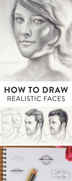 Drawing Tutorial Learn how to professionally draw a human face with Craftsy's beginner guide. Master fundamental techniques for illusrating hair, facial features, expressions and more! 3d Drawings, Realistic Drawings, Pencil Drawings, Drawing Faces, How To Draw Realistic, Drawing People Faces, Art Faces, Drawing Techniques, Drawing Tips