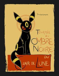 Ombre Noire by Ruwah. Like this cuz I love le chat noir poster