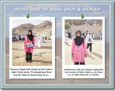 Noorun Najah & Norfarhana in their Hilyah Muslimah Tshirts at Jabal Rahmah & Arafah during their umrah trip in May 2011. For more Hilyah Goes Places! Photos & stories, visit http://www.hilyah.com/index.php?option=com_content=article=14=19 .