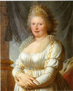 """Princess Charlotte Mathilde, The Princess Royal, daughter of George III. Her nickname was """"Royal""""; she was Britain's third Princess Royal. She became Queen Consort of Frederick of Wurttemberg and godmother to her niece Queen Victoria."""