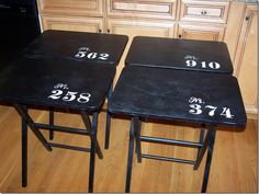 Make One For Smith S Room Paint White And Then Cafe Or Wver On Top Tv Tray Tables With Numbers 005