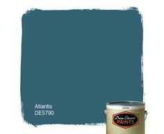 Dunn-Edwards Paints blue paint color: Atlantis DE5790 | Click for a free color sample #DunnEdwards