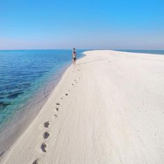 """""""Leave nothing but footprints @rajbelandres  Location: White Island, Camiguin, Philippines"""""""