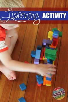 Listening Activity with Blocks Fun Activities For Kids, Therapy Activities, Educational Activities, Preschool Activities, Preschool Age, Play Therapy, Senses Activities, Comprehension Activities, Motor Activities