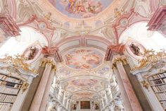 The Most Beautiful Library in the World - monalogue Admont Abbey Library, Austria Angel Aesthetic, Aesthetic Photo, Pink Aesthetic, Aesthetic Pictures, Baroque Architecture, Beautiful Architecture, Picture Wall, Photo Wall, Aphrodite Aesthetic