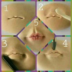Tutorial de como esculpir lábios.