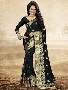 indian pakistani eid designer bollywood women sari party wear new art silk saree Lace Border, Floral Border, Party Sarees, Bollywood Party, Work Sarees, Art Silk Sarees, Fashion Outfits, Womens Fashion, Fashion Ideas