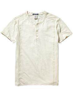 Henley T-Shirt |T-shirt s/s|Men Clothing at Scotch & Soda
