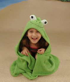 PERSONALIZED Yikes Twins Frog hooded towel by Yikestwins on Etsy, $42.00