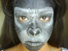 Gorilla make up... very well done!