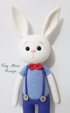 PATTERN-Amigurumi Cracker Bunny by TinyMiniDesign on Etsy