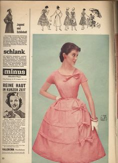 A super charming spring frock from the pages of Burda, March 1956.