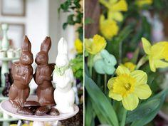 Ideias para o almoço de Páscoa - mesa de doces com bolos e chocolates de coelhos (  Objetos: D. Filipa | Decoração: Clarissa Rezende | Flores: Monica Rezende | Fotos: Constance Zahn )