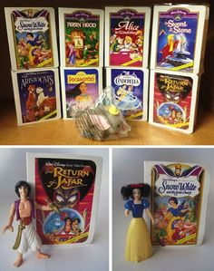 Disney Masterpiece Collection (1996) Oh, these were no ordinary Disney VHS boxes. Oh, no. Because... when you opened these bad boys... there was a FIGURINE INSIDE. Also a Dumbo doll that squirted water, which was cool, too, I guess.