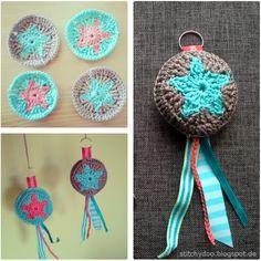Gehäkelte Anhänger / Taschenbaumler | crochet key chains