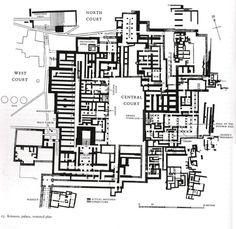 Ricostruzione della struttura del palazzo di Cnosso