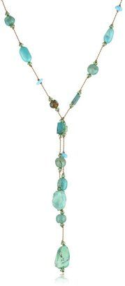 """Margo Morrison New York """"Turquoise"""" Combination Necklace, 22"""" i love anything turquoise...we sell this at A Style Studio"""