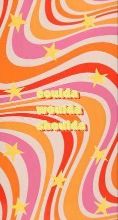 Words Wallpaper, Retro Wallpaper, Wallpaper Quotes, Orange Wallpaper, Girl Wallpaper, Disney Wallpaper, Iphone Wallpaper Vsco, Aesthetic Iphone Wallpaper, Aesthetic Wallpapers