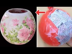O futuro só depende de você! : How to make flower pot with balloon and plaster Balloon Crafts, Vase Crafts, Cement Crafts, Mason Jar Crafts, Bottle Crafts, Decor Crafts, Diy Home Crafts, Diy Arts And Crafts, Diy Craft Projects
