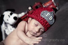 NEWBORN Fireman Hat by EternallyHooked on Etsy, $25.00