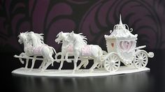 Learn how to make a beautiful horses and carriage centrepiece out of pastillage that can be used in front of a cake, or on top of a large cake. This centrepiece goes perfectly with our Sugar Castle Centrepiece but also looks great alone.
