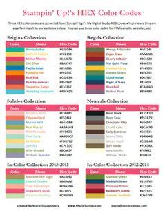 farbcode rgb hex farbe grafik stampinblog stampin farbkombinationen pinterest zuzuordnen. Black Bedroom Furniture Sets. Home Design Ideas