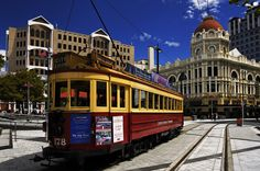 Cathedral Square, Christchurch, NZ, as it was when I was last there before the earthquake in 2011.  Was amazing to ride the train through the city..