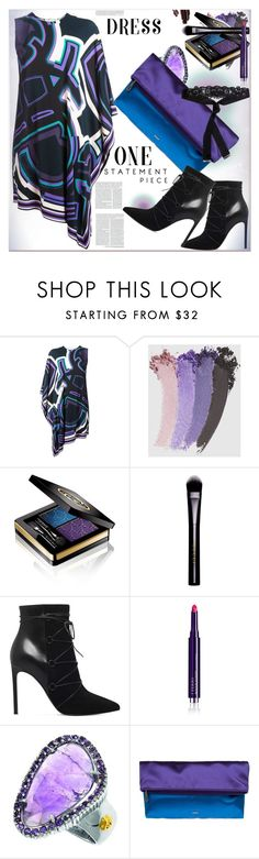 """""""Party Dress ..."""" by dragananovcic ❤ liked on Polyvore featuring Emilio Pucci, Gucci, Yves Saint Laurent, By Terry, Phillip Gavriel and Etro"""