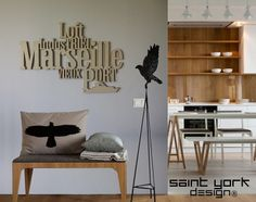 1000 images about decoration murale typographie. Black Bedroom Furniture Sets. Home Design Ideas