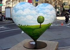 New York Social Diary has the latest from Palm Beach to San Francisco to Shanghai & beyond! I Love Heart, My Heart, Le Cri, Heart In Nature, Heart Crown, Lone Tree, San Fransisco, San Francisco California, Heart Wall