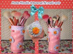 ✿Porta pincéis, com latinha de Nescau, PASSO A PASSO✿