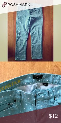 JCrew Polka Dot Pants These funky pants are perfect for a stylish spring outfit! Size 25! In great condition. J. Crew Pants Ankle & Cropped