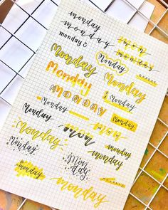 Looking for the best bullet journal fonts, headers and letterings for each day? Here are endless creative bujo ideas that you can use from Monday to Sunday! Bullet Journal Alphabet, Bullet Journal Headers, Bullet Journal Banner, Bullet Journal Notebook, Bullet Journal Layout, Bullet Journal Ideas Pages, Bullet Journal Inspiration, Alphabet Doodle, Tittle Ideas