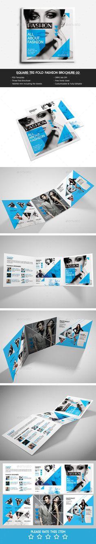 Square Tri-Fold Fashion Brochure Template #design Download: http://graphicriver.net/item/square-trifold-fashion-brochure-02/11640316?ref=ksioks