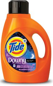 Tide Plus A Touch of Downy Sweet Dreams Liquid Laundry Detergent.