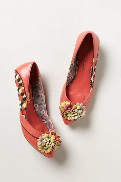 Floral Flash Mini-Wedges #anthropologie #anthrofave