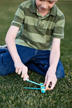 DIY Network's crafting experts provide simple instructions on how make a mini catapult to keep the kids busy for hours.