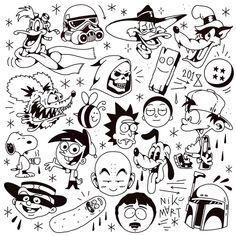 Tattoo Design Drawings, Small Tattoo Designs, Tattoo Sketches, Tattoo Designs Men, Kritzelei Tattoo, Doodle Tattoo, Dark Tattoo, Tattoo Flash Sheet, Tattoo Flash Art
