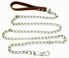"""DLUX Dog Chain 72"""" Inches (6' feet), Heavy Duty Leash, Brown Leather-like Strong Handle Lead - http://www.thepuppy.org/dlux-dog-chain-72-inches-6-feet-heavy-duty-leash-brown-leather-like-strong-handle-lead/"""