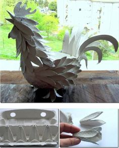 Gorgeous Egg Carton Rooster for Easter