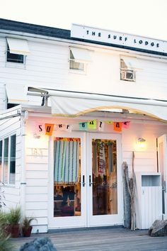 The Surf Lodge -- a typical California beach town bed and breakfast in Montauk, NY.