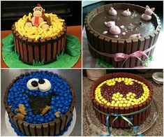 Krümelmonster Kuchen, Batman Kuchen, Kindertorte Ideen, Affenkuchen Superman action figures have invariably been preferred considering Candy Cakes, Cupcake Cakes, Cake Recipes, Dessert Recipes, Food Cakes, Cute Cakes, Yummy Cakes, Cookies Et Biscuits, Creative Cakes