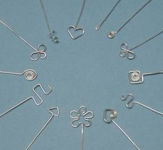 Spiral Heart Head Pin Headpin Tutorial by carolinefjewellery